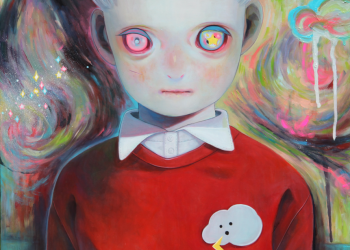 "Children of This Planet #10, Oil on canvas, 21"" x 18"", 2013"