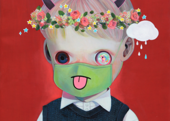 """Children of This Planet #11, Oil on canvas, 21"""" x 18"""", 2013"""