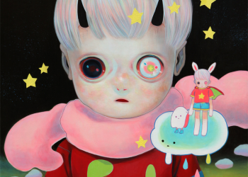 "Children of This Planet #17, Oil on canvas, 21"" x 18"", 2014"