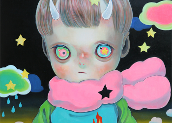 """Children of This Planet #20, Oil on canvas, 21"""" x 18"""", 2014"""
