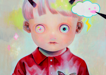 """Children of This Planet #5, Oil on canvas, 21"""" x 18"""", 2012"""