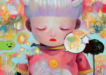 """Children of This Planet #8, Oil on canvas, 21"""" x 18"""", 2012"""