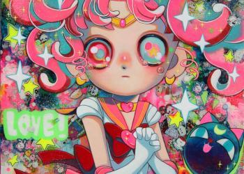 "Love My Little Princess, Mixed media, 13.1"" x 13.1"", 2018"