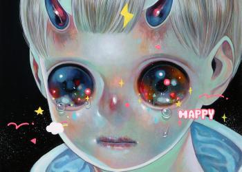 "Empty Innocence, Oil on canvas, 13"" x 13"", 2019"