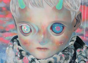 "Dream Child, Oil on canvas, 29"" x 29"", 2015"