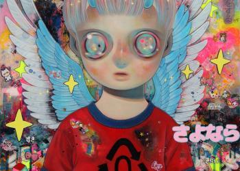 """Angel of History, Mixed media, 21"""" x 18"""", 2016"""