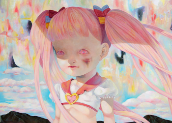 "Who Will Save the Magical Girl?, Oil on canvas, 51.3"" x 63.8"", 2011"