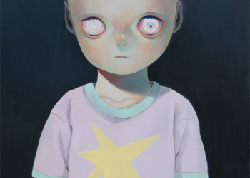 """Children of This Planet #21, Oil on canvas, 21"""" x 18"""", 2014"""