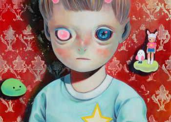 "Children of This Planet #23, Oil on canvas, 21"" x 18"", 2014"