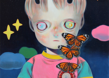 "Children of This Planet #24, Oil on canvas, 21"" x 18"", 2014"