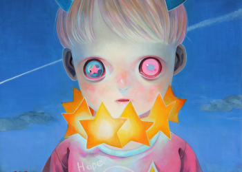 """Children of This Planet #9, Oil on canvas, 21"""" x 18"""", 2013"""